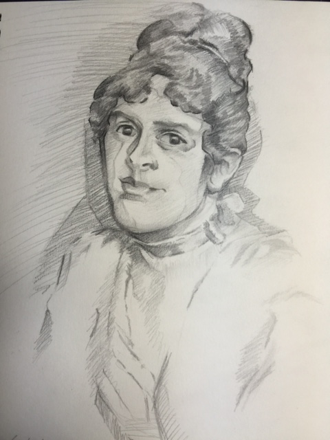 Metropolitan Museum Of Art Girl Sketching